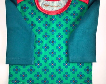 Baby shirt with American neckline, Gr. 62