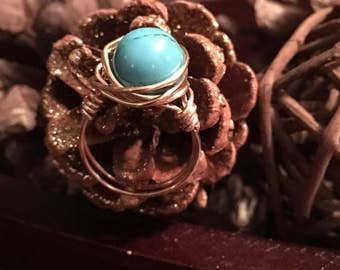 Wire wrapped jewelry. Jewelry. Wire wrapped ring. Mother's Day gift