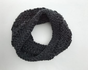 Drop Stitch Cozy Cowl: Charcoal