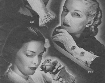 Women's Vintage Crochet Net Glove Patterns