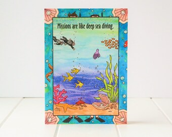 Missionary Greeting Card - Mission Diving