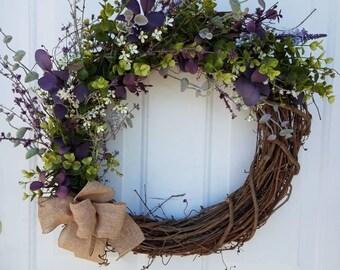 Perfect purple Garden Wreath