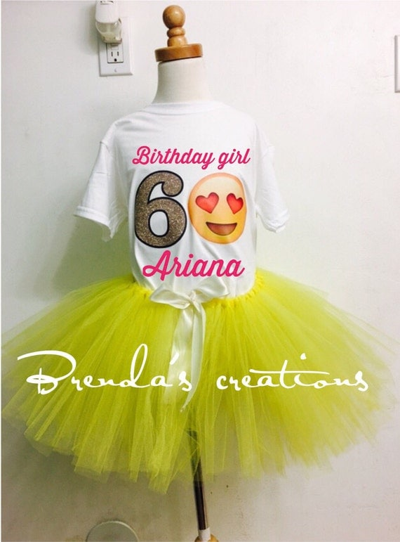 Heart Eyes Emoji Birthday Party Tutu