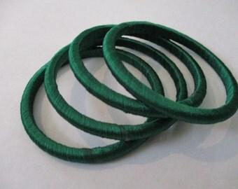 Threaded Plain Green Bangles