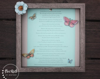 Daycare Provider Gift Nanny Gift Childcare Provider Gift Custom Poetry Gift Shadowbox Frame