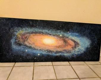 Milky Way Galaxy acrylic painting on canvas