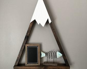 Mountain Shelf, Nursery, Rustic Decor (one shelf)