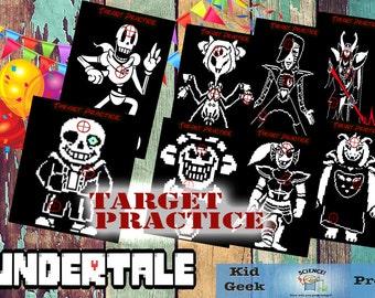 Undertale fun nerf target practice game!