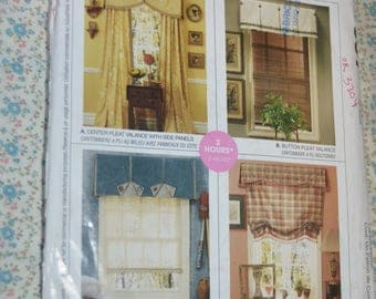McCalls 657 Home Decor, Valances and Side Panels Sewing Pattern - UNCUT -
