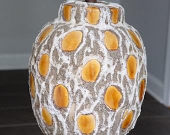 Maurice Chalvignac-Inspired Fat Lava Ceramic Table Lamp