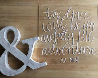 Wedding acrylic sign: custom quote perfect for weddings, showers, and parties- 12x12, 11x14, 8x10