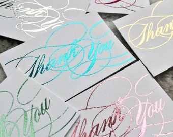 Foil Printed Thank You Tags