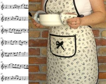 Women's apron - Sheet music + 2 potholders