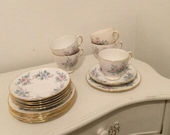 21 piece floral China Tea Set
