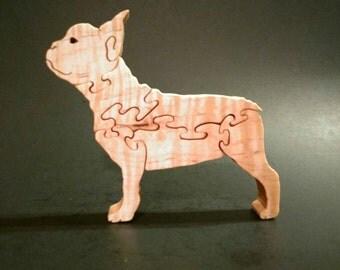 Frenchie the French Bulldog wood puzzle