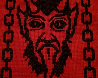 Krampus Cross Stitch Pattern