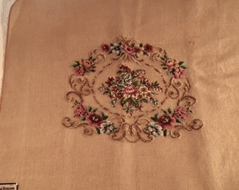 Petit point center preworked needlepoint canvas suitable for chair cover