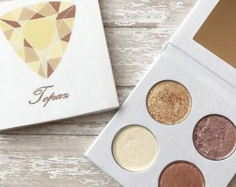 Pressed eyeshadow palette - November birthstone - Topaz