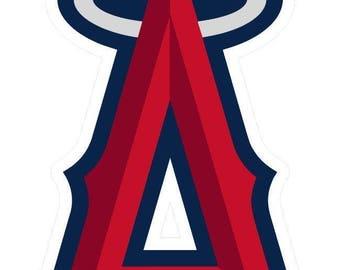 Los Angeles Angels of Anaheim  Cornhole Decals / SET of 2   #1