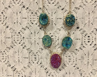 Simulated Drusy Necklace