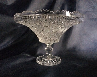 Czech bohemia crystal glass - Cut bowl 31cm