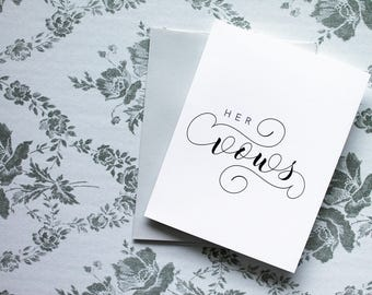 Her Vows // Wedding Day Folded Card