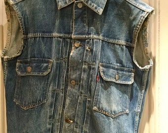 Rare 1950's Levis type 2 507 denim 'big E' jacket, 40 chest