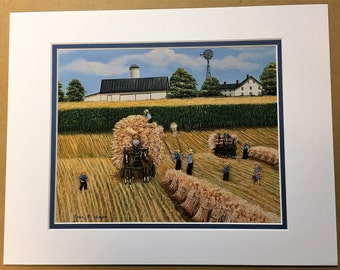 Bringing in the Sheaves Oil Painting Print