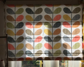 Roman Blind Made in Orla Kiely Scribble Multi Stem Cotton Fabric