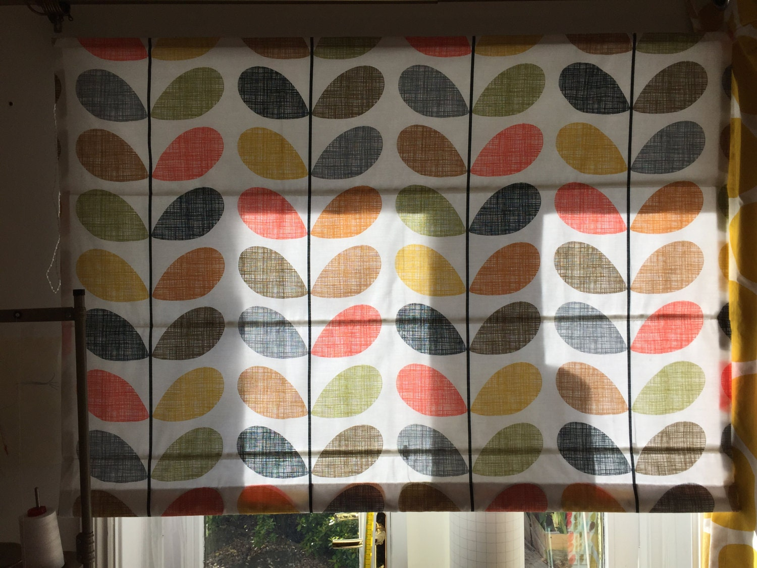 Octopus shower curtain cafe press - Roman Blind Made In Orla Kiely Scribble Multi Stem Cotton Fabric