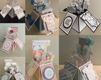 Handmade 3D pop up cards made with Stampin' Up! quality products