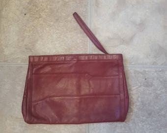 Red Leather Cluch