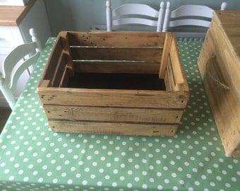 Handmade pallet wood crate