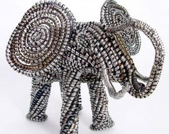 Recycled Metal Shaving Elephant