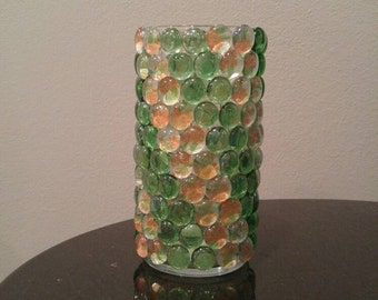 Sunny Flower & Green Candle Holder