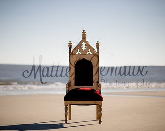Santa Chair on the beach digital backdrop