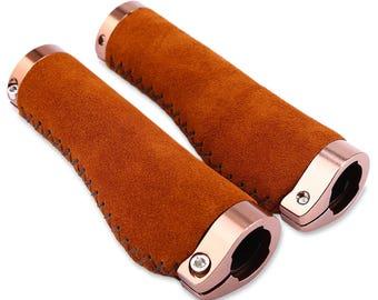 Ergonomic Handlebar Grips Aluminium Lock / Suede