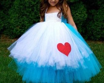 Alice in Wonderland baby girl Kids Tutu Dress
