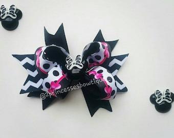 Hair Bows, Minnie Mouse , Baby Bows, Girls Hair Bows,Hair Bows for Girls,French Clip, Hair Barrette, French Barrette, Baby Bows