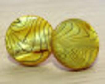 Yellow & Black Shell Earrings