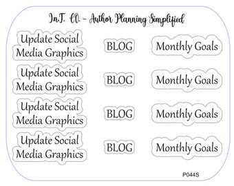 Author Planner Stickers - Word Sheet 9