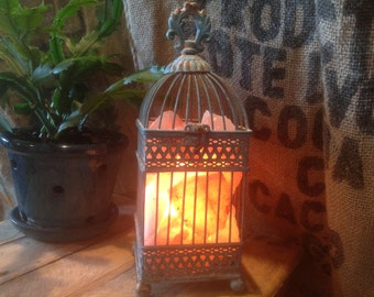Small Bird Cage Salt Lantern