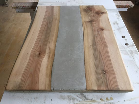 tischplatte beton und holz