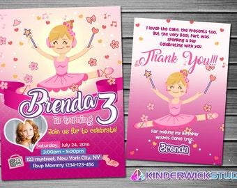 Ballerina Invitation, Ballerina Birthday, Ballerina Party, Ballerina Invites, Ballerina Printables, Ballerina Printable Invite, Ballerina