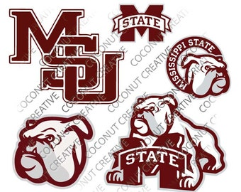 Mississippi State Bulldogs svg dfx jpg jpeg eps layered cut cutting files cricut silhouette die cut decal vinyl