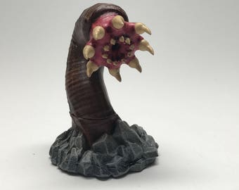 Hand Painted Rock Worm