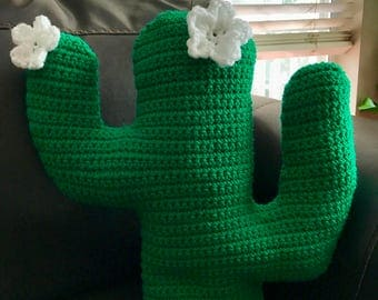 Made to Order Crochet Cactus Pillow