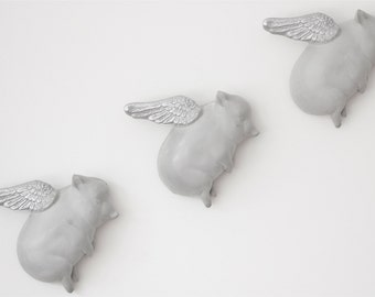 Oink Flying Pigs - Concrete & Silver