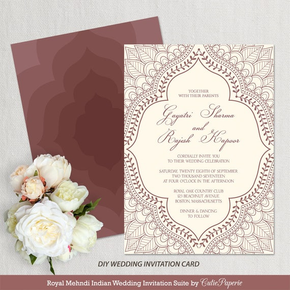 Wedding invitation template indian wedding invitation mehndi wedding invitation template indian wedding invitation mehndi wedding invitation editable wedding template instant download word or pages stopboris Images