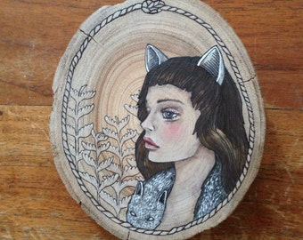 WANT TO original painting on wood